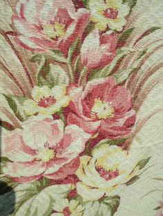 #vintage fabric barkcloth