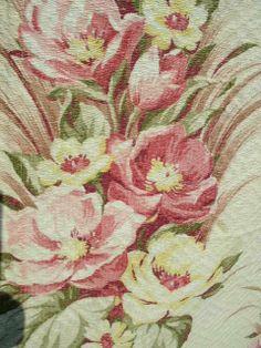 #vintage fabric barkcloth