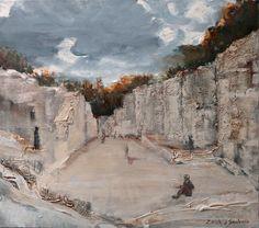 Castle Smoleń. Acrylic on canvas. Author:Witold Kubicha