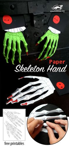 Scary hands from paper – A Halloween Decoration - Real Time - Diet, Exercise, Fitness, Finance You for Healthy articles ideas Diy Halloween Activities, Scary Halloween Decorations, Halloween Crafts For Kids, Holidays Halloween, Halloween Party, Halloween Stuff, Halloween Makeup, Diy Paper Christmas Tree, Hallowen Ideas