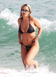 Rita Ora sports a tiny polka dotted bikini! Find out where to get your own!