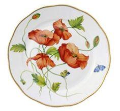 Herend American Wildflowers California Poppy Dinner Plate