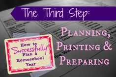 How to Successfully Plan a Homeschool Year: The third step - getting all that shiny, new curriculum organized!
