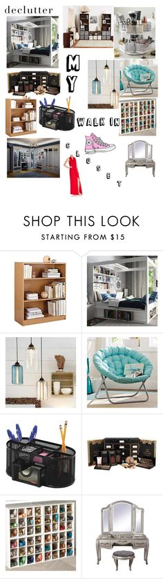 """""""My Walk in Closet"""" by olliepea ❤ liked on Polyvore featuring interior, interiors, interior design, home, home decor, interior decorating, Ameriwood, PBteen, Rolodex and Parker"""