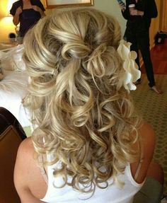 Gorgeous I like the curls and flower on the side like we talked about