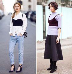Новый весенний тренд: Бюстье поверх рубашки или свитера - новости портала красоты myCharm.Ru