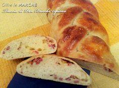 Treccia Pan Brioche salata ripiena, lievito madre | Oltre le Marche