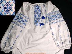 Handmade Ukrainian hand embroidered women's blouse #WS08-4332 from Western Ukraine, sold on AllThingsUkrainian.com