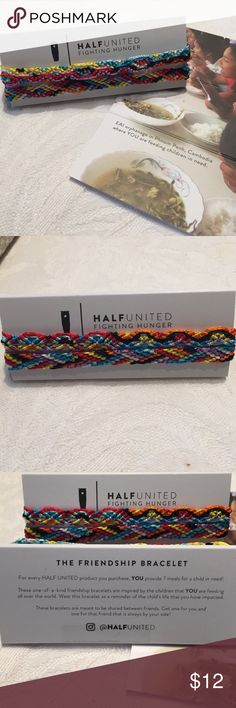 Friendship Bracelets 2 HalfUnited Friendship Bracelets to be shared with a special friend. Handmade, inspired by hungry children all over the world. HalfUnited Jewelry Bracelets