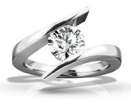 Beautiful Tension set diamond ring