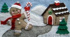 How to Make a Quiet Book perhaps: Gingerbread house - lots of goodies to decorate house!
