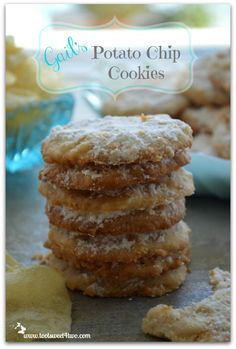 Potato Chip Cookies - sweet and salty - the perfect combination!  Get the easy recipe at www.tootsweet4two.com.