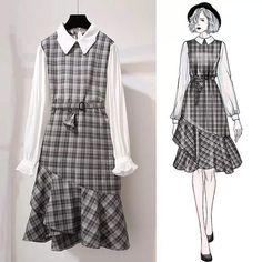 Korean fashion styles 493988652877358053 - Technical Drawings Source by nebihanakca Style Ulzzang, Ulzzang Fashion, Asian Fashion, Hijab Fashion, Teen Fashion, Fashion Dresses, Stylish Outfits, Cute Outfits, Diy Kleidung