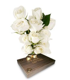 Beauty lies in simplicity and nothing proves this better than a bunch of white Roses. You can gift it to someone special with dozen heart shape chocolate.