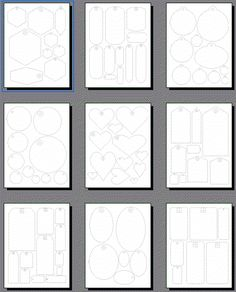 Make your own custom gift tags with these free printable templates scrapbooking tags templates printable shapes for scrapbook page tags negle
