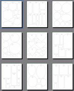 Lots of free printable tag templates etiketter mall Printable Shapes, Free Printable Tags, Free Printables, Scrapbook Pages, Scrapbooking, Scrapbook Templates, 3d Templates, Gift Tag Templates, Envelopes