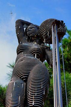 Changirl Park - Korean Artist - Sliced Metal Sculptures                                                                                                                                                                                 More