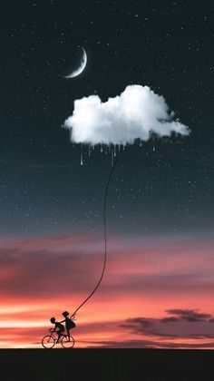 Pin by BDN on Papel de parede para celular in 2019 Drawing with children riding a bike during night, who have caught a cloud Thrist for rain Android Wallpaper - Wallpaper - Iphone and Android Walpaper nature image Wallpaper by AngelSehar - 67 - Free on ZE