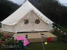 bell tent decking - Google Search