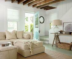 Beautiful \sandy\ coastal living room: