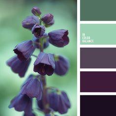 бледно-зеленый, бледно-пурпурный, бледный цвет баклажана, зеленый и пурпурный, зеленый и фиолетовый, зеленый и цвет баклажана, оттенки зеленого, оттенки пурпурного, пурпурный цвет, серо-фиолетовый, сиреневый и фиолетовый, фиолетовый и