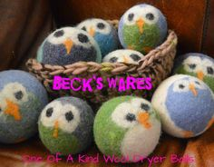 Mami's 3 Little Monkeys: Beck's Wares: OOAK Wool Dryer Balls Review, Discount Code (Exp. 8/31) & Giveaway! US 8/14