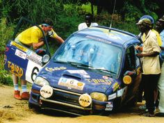 "1993: Colin Mcrae on his Subaru Vivio at the 1993 Safari ""You can hide the whole car in every single pothole along the route!"""