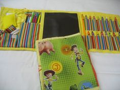 Toy Story Art Travel Tote in a Colorful Print by GrammasShop, $25.00