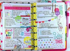 Here's my layout for last week! I had a lot of fun spending my week with this spread! Planner Layout, Goals Planner, Planner Pages, Printable Planner, Planner Stickers, Planner Ideas, Student Planner, Journal Layout, Journal Ideas