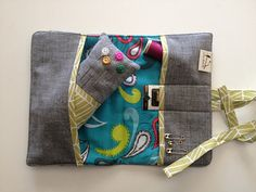 Instead of sewing kit make it as a ipod or phone case with pocket for charger cords.