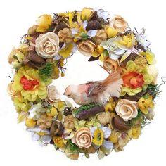 Tavaszi kopogtató madárral - Szárazvirág díszek webáruháza Floral Wreath, Wreaths, Home Decor, Floral Crown, Decoration Home, Door Wreaths, Room Decor, Deco Mesh Wreaths, Home Interior Design