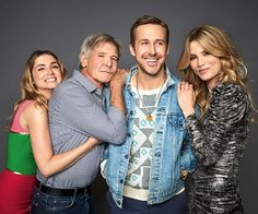 Ryan Gosling, Harrison Ford, Ana de Armas and Sylvia Hoeks photographed by Matthias Clamer for EW at SDCC2017 #bladerunner2049 #film #movies #cinema
