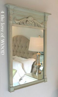 4 the love of wood: MIRROR MIRROR ON THE WALL- my french mirror
