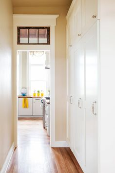 Wide hallways are ideal locations for generous built-ins.    Photo: Lisa Romerein   thisoldhouse.com