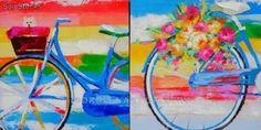 cuadros pintados+bicicleta - Buscar con Google