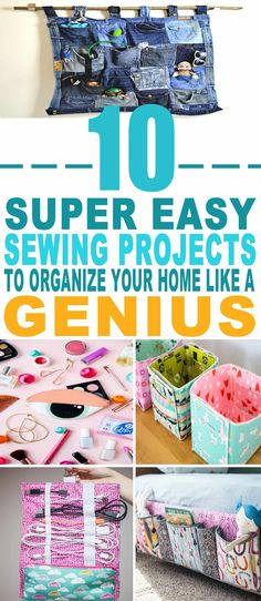 These are some of the BEST Sewing projects to organize my home!! Glad to have found these sewing projects for beginners with a lot of helpful tips. Pinning for sure!!