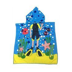 Actionclub Microfiber Fabric Beach Towel 120*60cm Cartoon Kids Beach
