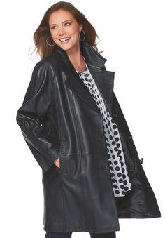 Jacket swing style in cozy fleece plussize Coats from