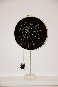 restlessrisa: Embriodery Hoop Spider Web and Studio 5