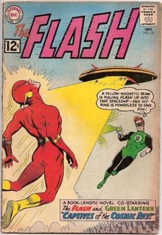"""""""The Flash"""" – Silver Age Comic Book Covers – Late – Flash Comic Book, Dc Comic Books, Vintage Comic Books, Comic Book Covers, Vintage Comics, Comic Art, Vintage Games, Flash Comics, Dc Comics"""