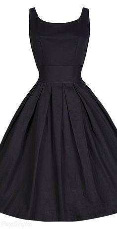 Lindy Bop 1950's Little Black Swing Dress