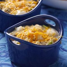 Mini Scallop Casseroles
