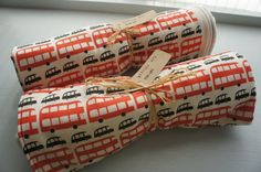 Organic Baby Blanket London Buses & Taxis Double by RWScissors2010, £28.00