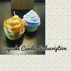 Monthly Goodies: Cupcake Candle by MelissasCandleBakery on Etsy