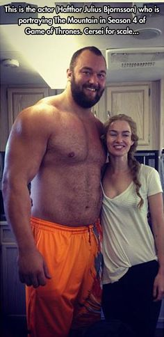 That's why they call him The Mountain that Rides. I don't even watch Game of Thrones, but damn...