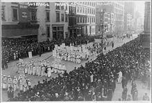 Marcha de 20.000 mujeres en Nueva York 1915