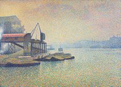 Thames Scene, the Elevator (ca. 1890) / by Georges Lemmen