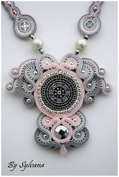 Soutache necklace soutache jewelry sutasz by SoutacheJewelleryAM