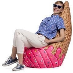 Ice cream cone beanbag