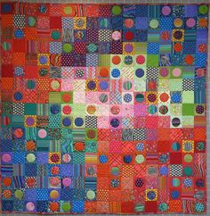"""Losing My Marbles Quilt Fabric Pack from Glorious Color - quilt fabric and kits, """"Passionate Patchwork"""", and """"Kaleidoscope of Quilts"""" by Kaffe Fassett & Liza Lucy Circle Quilts, Quilt Top, Circle Game, Quilt Kits, Applique Patterns, Quilting Designs, Textile Art, Fiber Art, Abstract"""